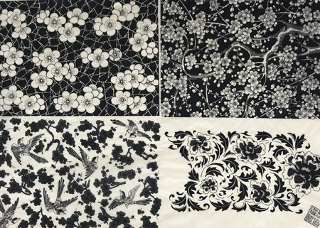 Decal, 4 patterns(Black)